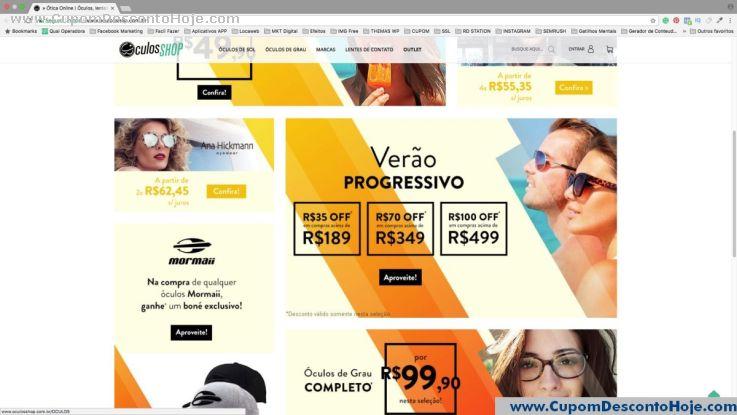 CheckOut da Loja Virtual Óculos Shop