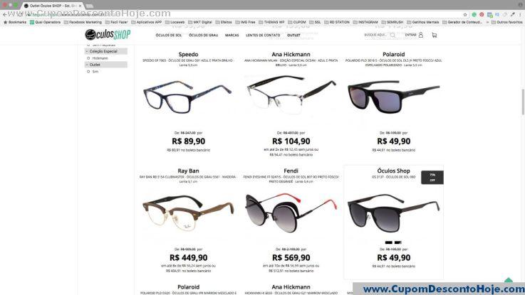 Loja Virtual  da Loja Óculos Shop