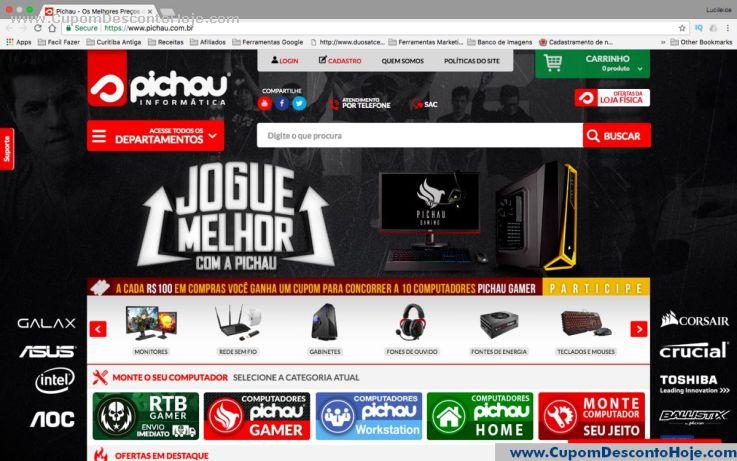 Loja Virtual - Cupom Desconto Pichau Informática