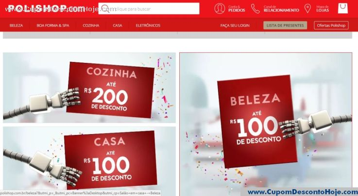 Loja Virtual - Cupom Desconto Polishop
