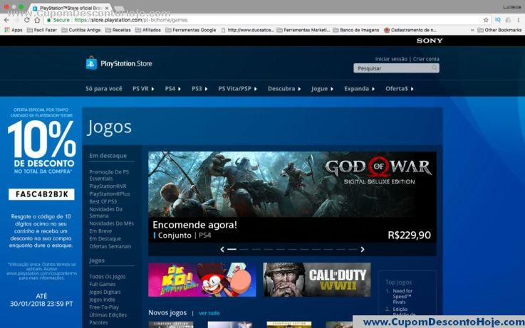 Loja Virtual - Cupom Desconto PSN