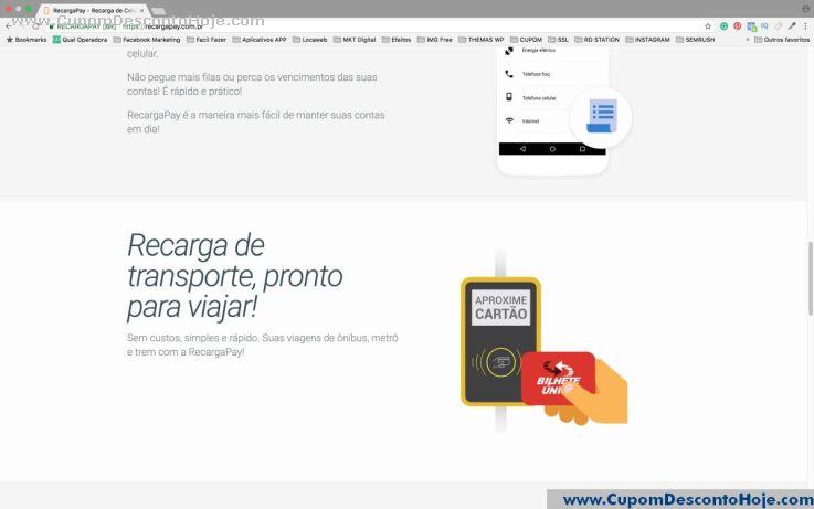 CheckOut da Loja Virtual Recarga Pay