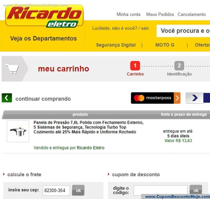 Cupom Desconto da Loja Virtual Ricardo Eletro