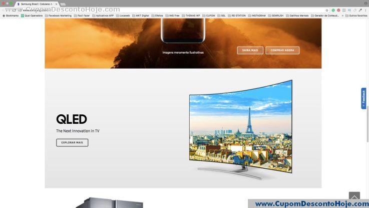 Cupom Desconto da Loja Virtual Samsung