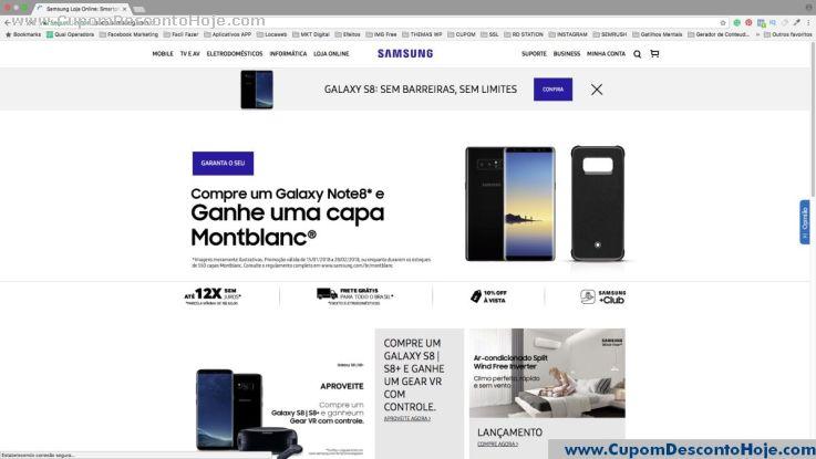 Loja Virtual - Cupom Desconto Samsung