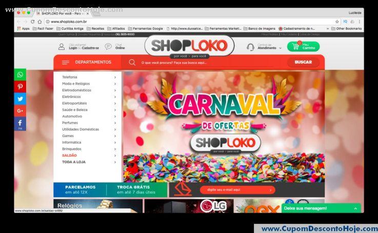 Loja Virtual - Cupom Desconto Shoploko