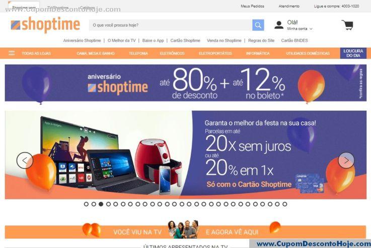 Loja Virtual - Cupom Desconto Shoptime