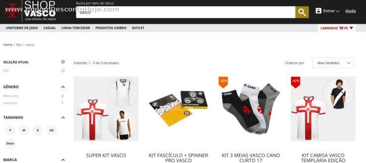 CheckOut da Loja Virtual Shop Vasco . c22f065ed2933