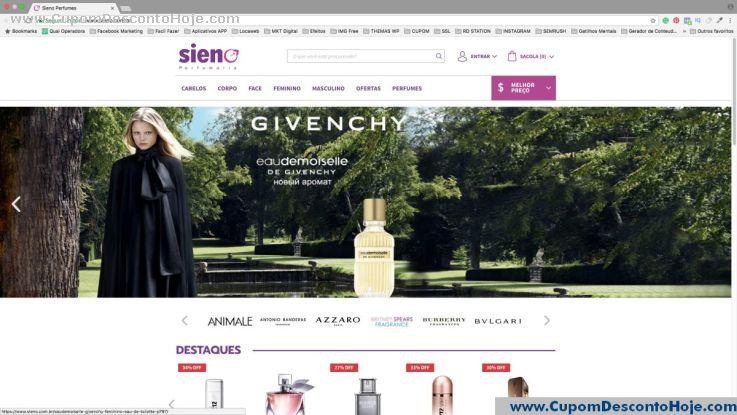 Loja Virtual  da Loja Sieno Perfumes