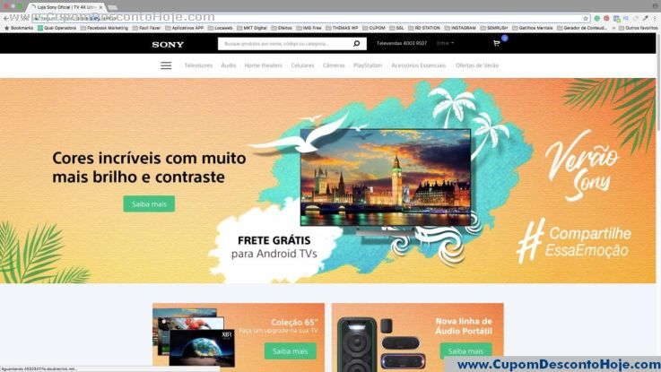 Loja Virtual - Cupom Desconto Sony