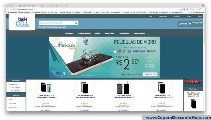 Loja Virtual - Cupom Desconto TEKCELL