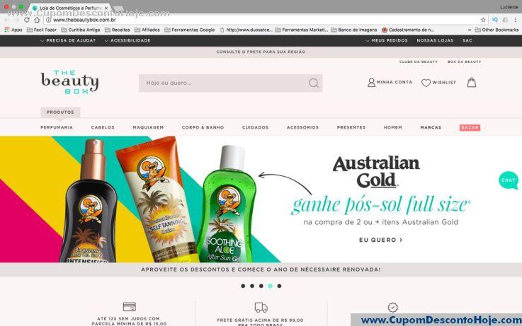 Loja Virtual - Cupom Desconto The Beauty Box