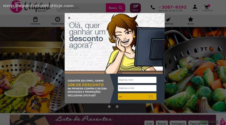 Cupom Desconto da Loja Virtual Utilplast