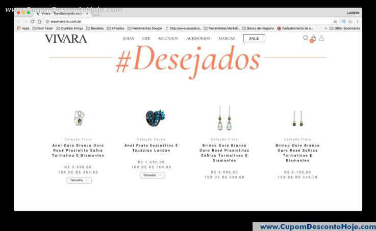 CheckOut da Loja Virtual - Cupom Desconto Vivara