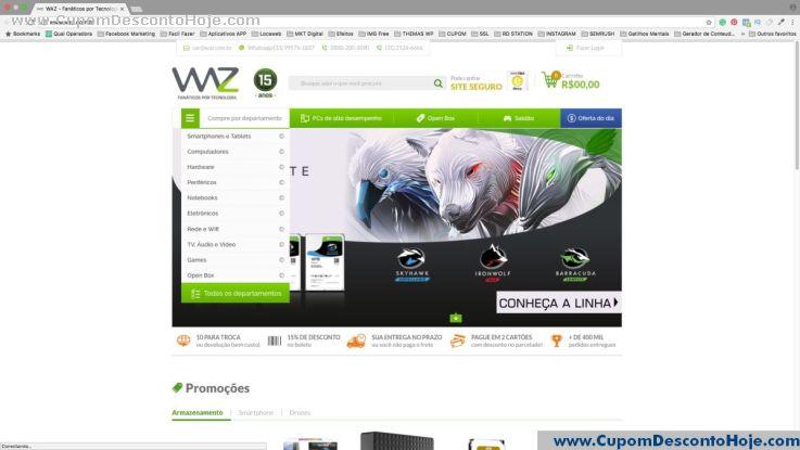 Loja Virtual - Cupom Desconto Waz