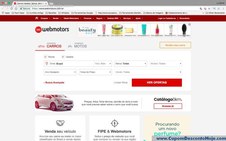 Loja Virtual - Cupom Desconto Webmotors