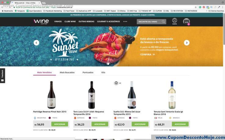 Loja Virtual - Cupom Desconto Wine