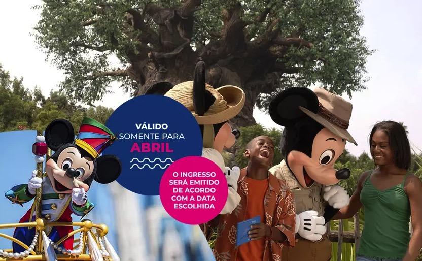 Cupom Desconto 1 dia em Abril Ingressos para Walt Disney World Resort