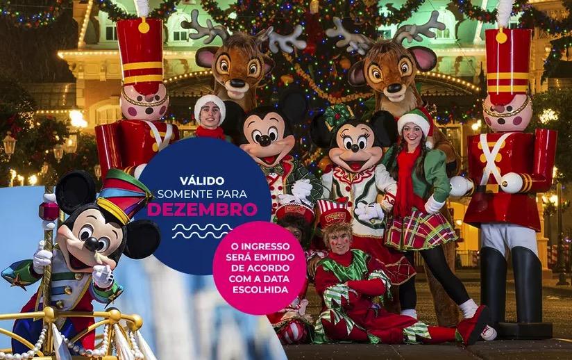 Cupom Desconto 1 dia em Dezembro Ingressos para Walt Disney World Resort