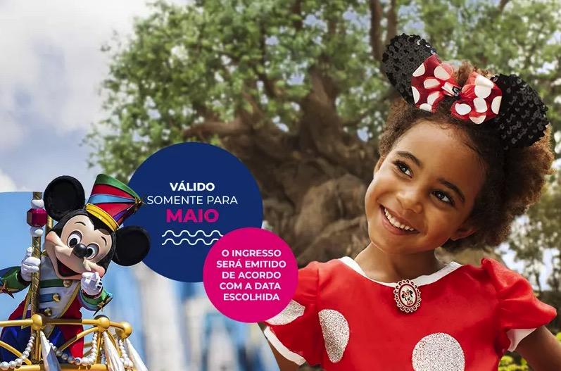 Cupom Desconto 1 dia em Maio Ingressos para Walt Disney World Resort