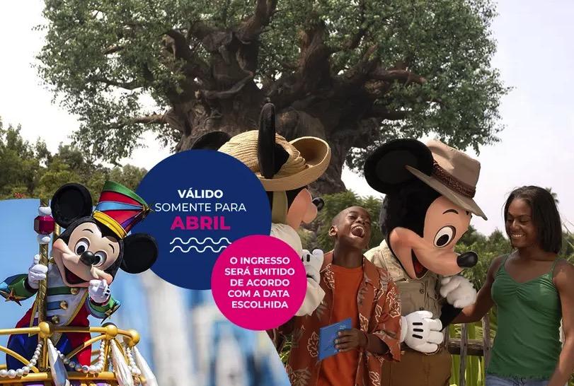 Cupom Desconto 2 dias em Abril Ingressos para Walt Disney World Resort
