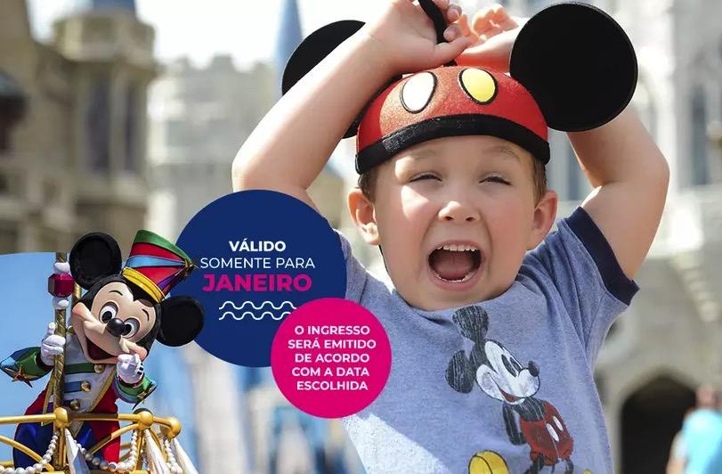 Cupom Desconto 2 dias em Janeiro Ingressos para Walt Disney World Resort