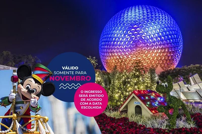 Cupom Desconto 2 dias em Novembro Ingressos para Walt Disney World Resort