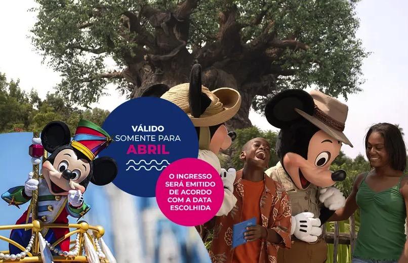 Cupom Desconto 3 dias em Abril Ingressos para Walt Disney World Resort