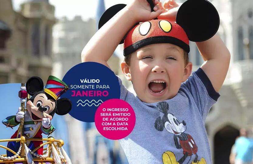 Cupom Desconto 3 dias em Janeiro Ingressos para Walt Disney World Resort