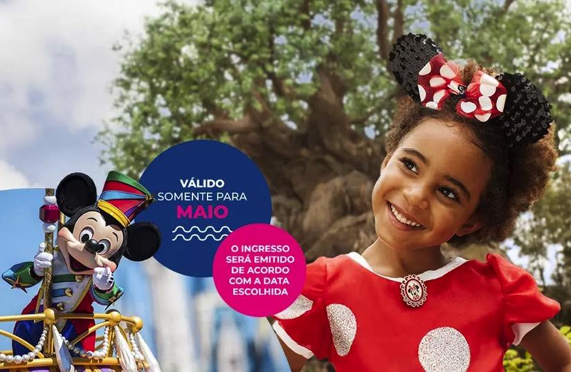 Cupom Desconto 3 dias em Maio Ingressos para Walt Disney World Resort