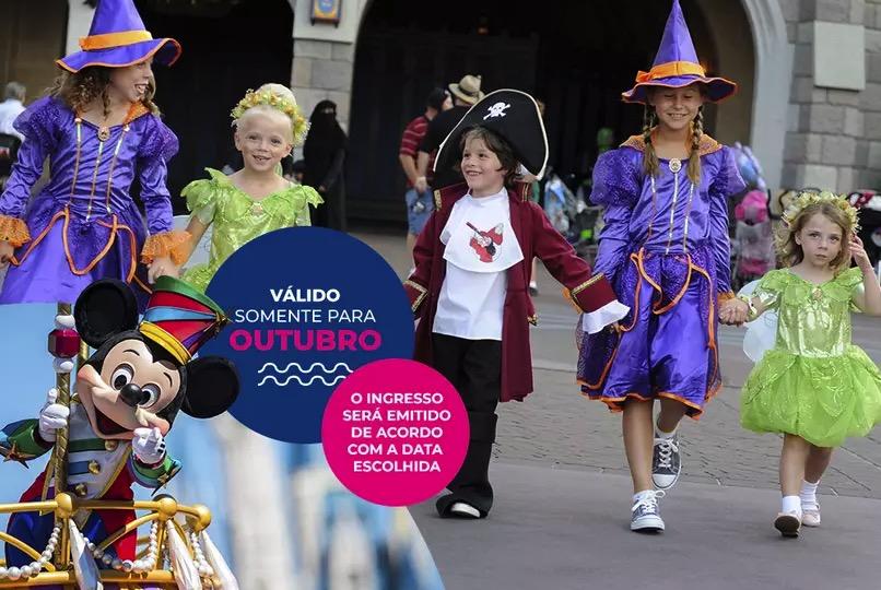 Cupom Desconto 3 dias em Outubro Ingressos para Walt Disney World Resort