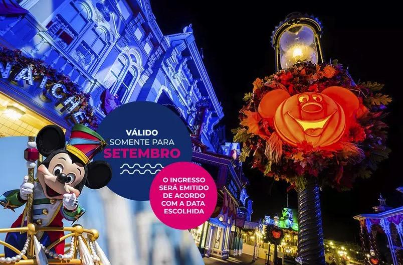 Cupom Desconto 3 dias em Setembro Ingressos para Walt Disney World Resort
