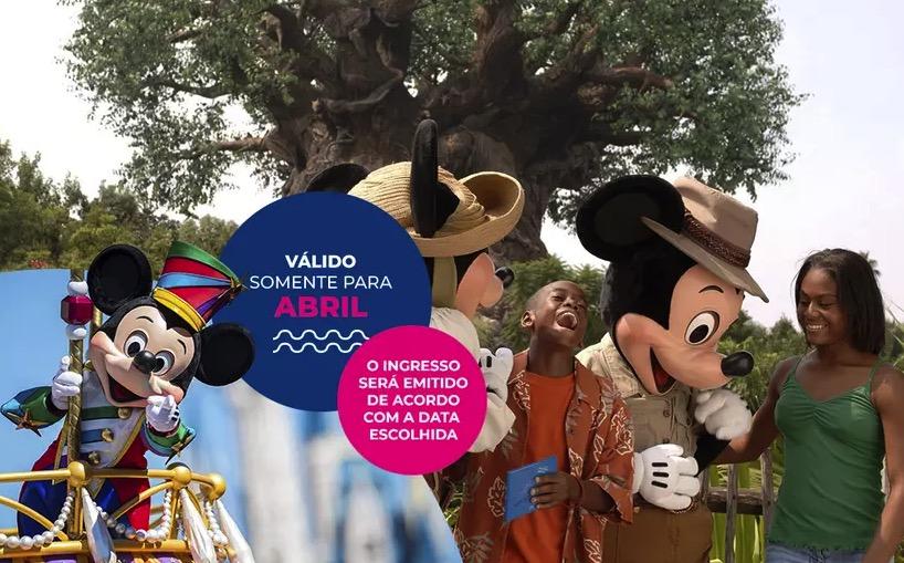 Cupom Desconto 4 dias em Abril Ingressos para Walt Disney World Resort