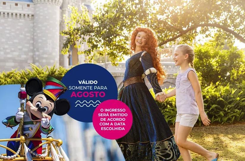 Cupom Desconto 4 dias em Agosto Ingressos para Walt Disney World Resort