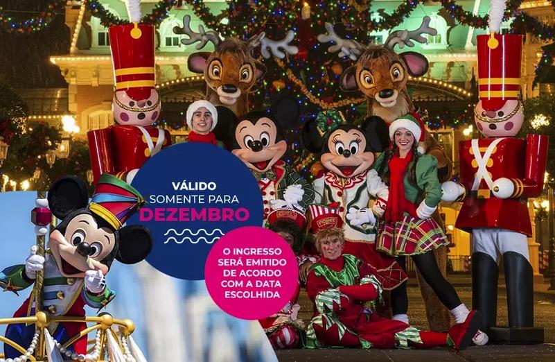 Cupom Desconto 4 dias em Dezembro Ingressos para Walt Disney World Resort