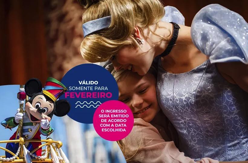 Cupom Desconto 4 dias em Fevereiro Ingressos para Walt Disney World Resort