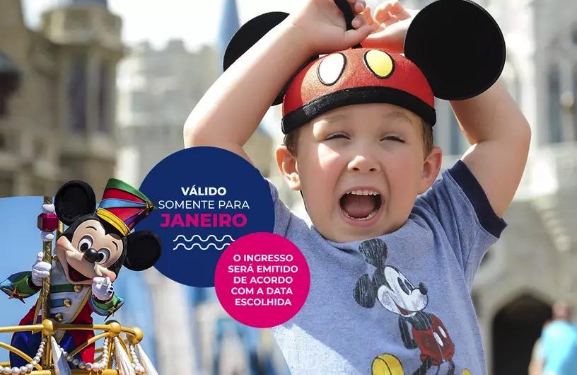 Cupom Desconto 4 dias em Janeiro Ingressos para Walt Disney World Resort