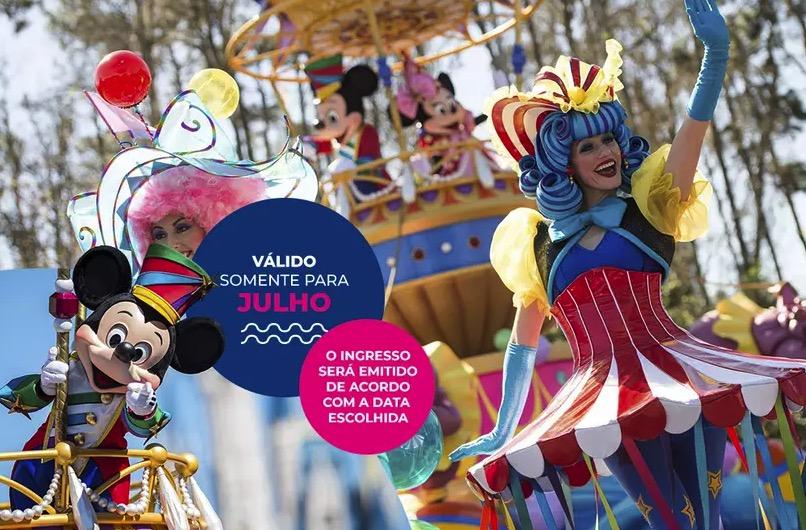 Cupom Desconto 4 dias em Julho Ingressos para Walt Disney World Resort