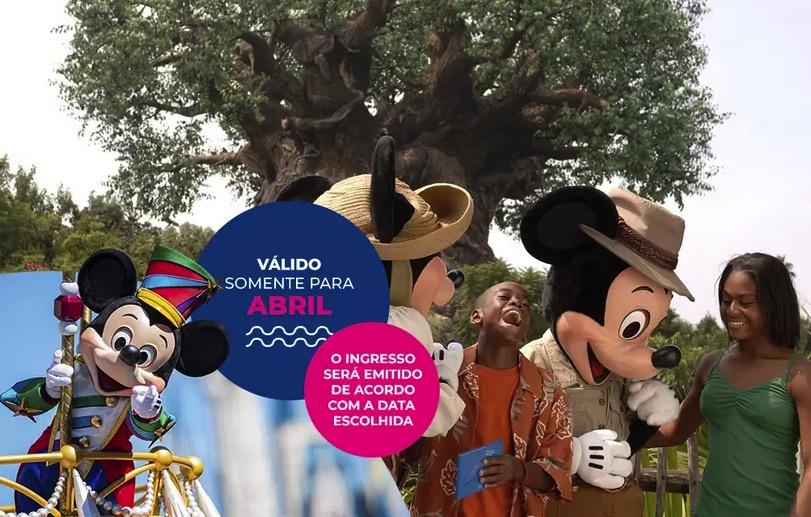 Cupom Desconto 5 dias em Abril Ingressos para Walt Disney World Resort