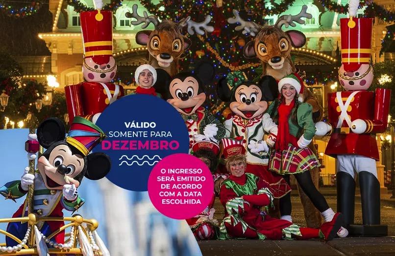 Cupom Desconto 5 dias em Dezembro Ingressos para Walt Disney World Resort