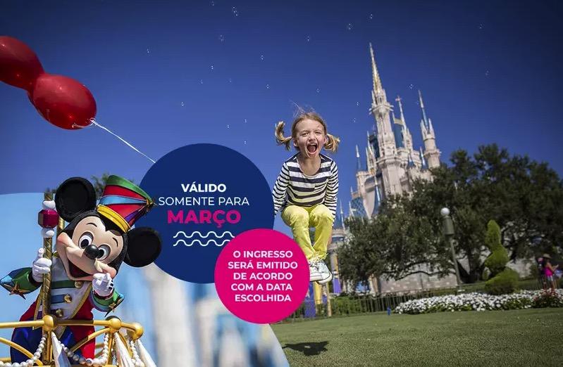 Cupom Desconto 5 dias em Março Ingressos para Walt Disney World Resort