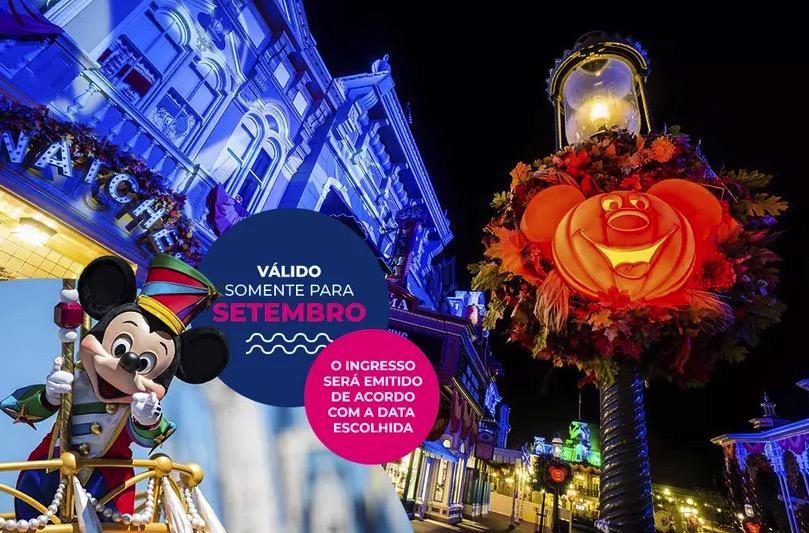 Cupom Desconto 5 dias em Setembro Ingressos para Walt Disney World Resort