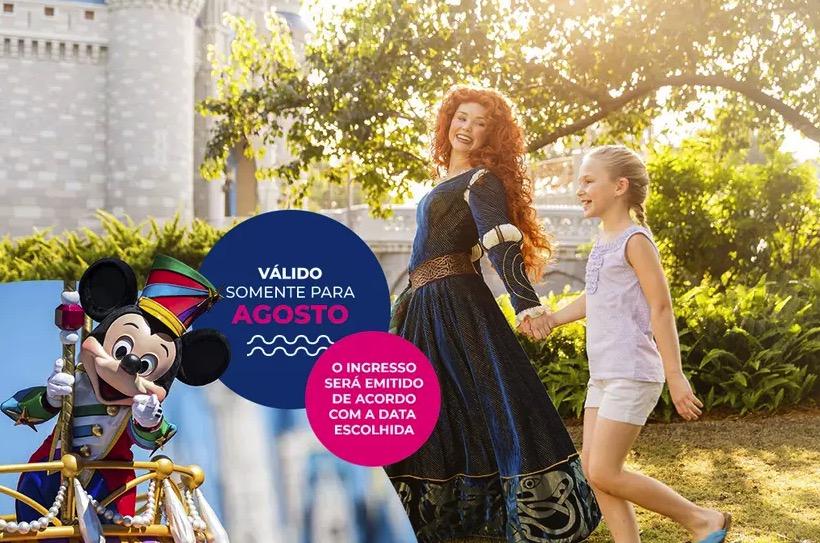 Cupom Desconto 6 dias em Agosto Ingressos para Walt Disney World Resort