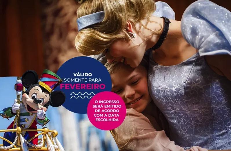 Cupom Desconto 6 dias em Fevereiro Ingressos para Walt Disney World Resort