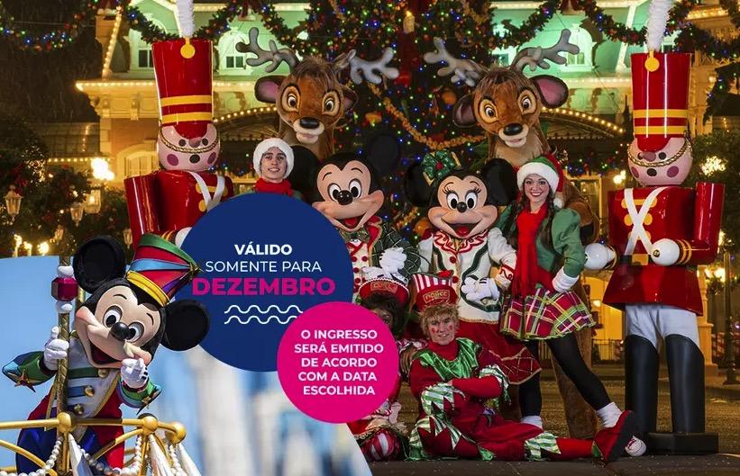 Cupom Desconto 7 dias em Dezembro Ingressos para Walt Disney World Resort