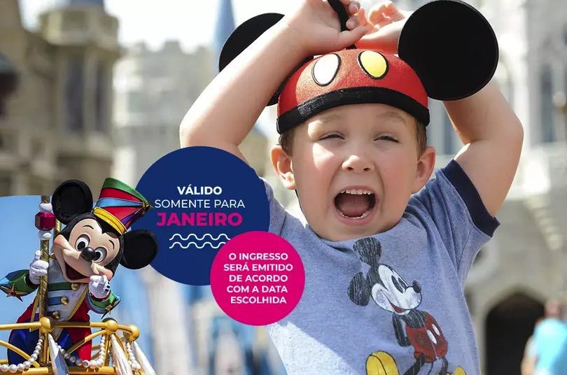 Cupom Desconto 7 dias em Janeiro Ingressos para Walt Disney World Resort