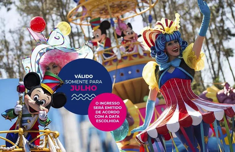 Cupom Desconto 7 dias em Julho Ingressos para Walt Disney World Resort