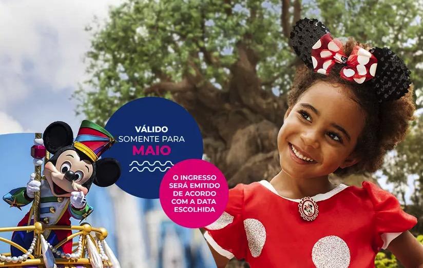 Cupom Desconto 7 dias em Maio Ingressos para Walt Disney World Resort
