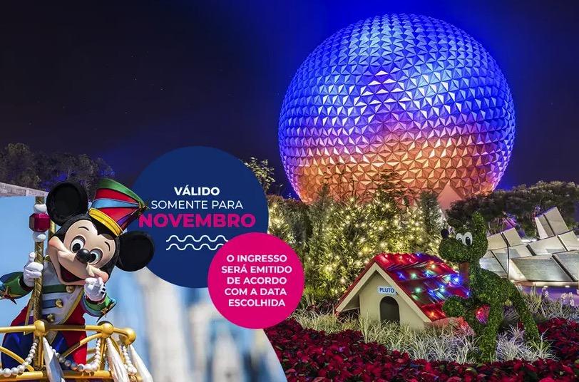 Cupom Desconto 7 dias em Novembro Ingressos para Walt Disney World Resort