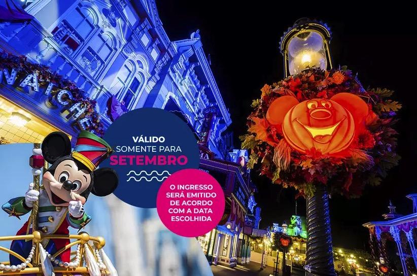 Cupom Desconto 7 dias em Setembro Ingressos para Walt Disney World Resort